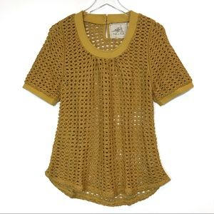Anthropologie Angel Of The North Senoia Blouse Top